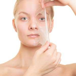 A fresh new layer of skin from a chemical peel.