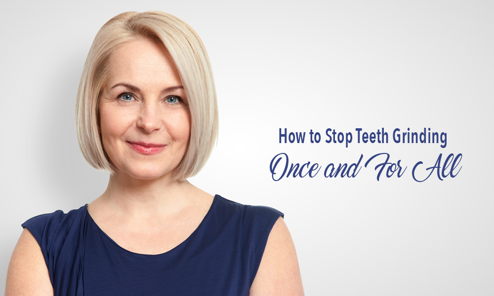 Middle-aged woman smiling. How to stop teeth grinding with botox. Book your free consultation with Dr. Teal in Fort Erie, Ontario.
